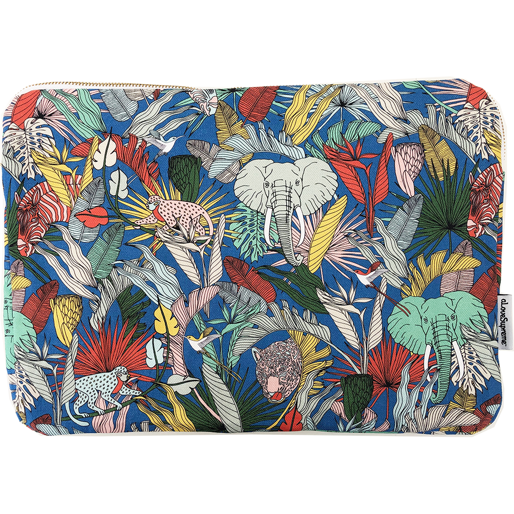 aLoveSupreme Laptop Sleeve 13in - Wild at Heart Blue