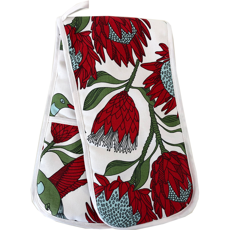 Mongoose Tea Towel Mudcloth Coral