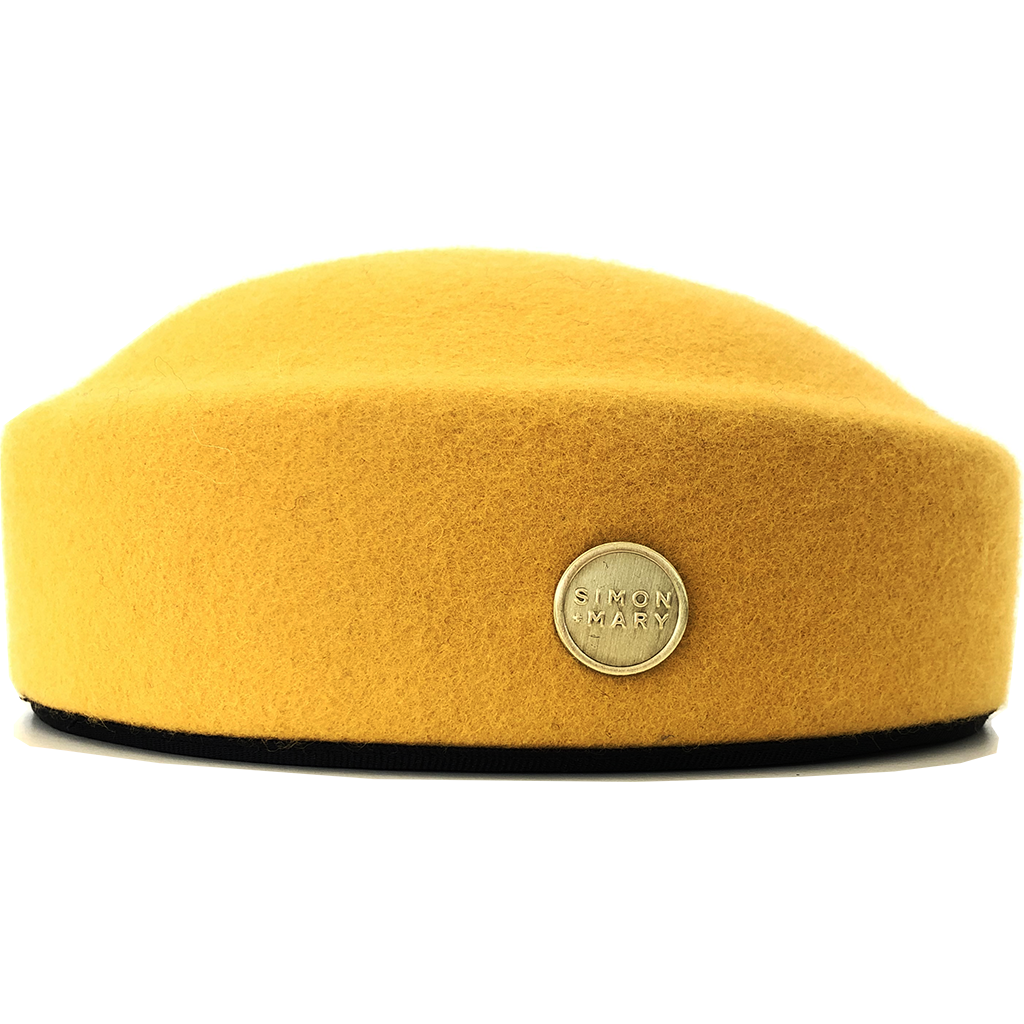 Simon & Mary Pillbox Fez Hat Yellow