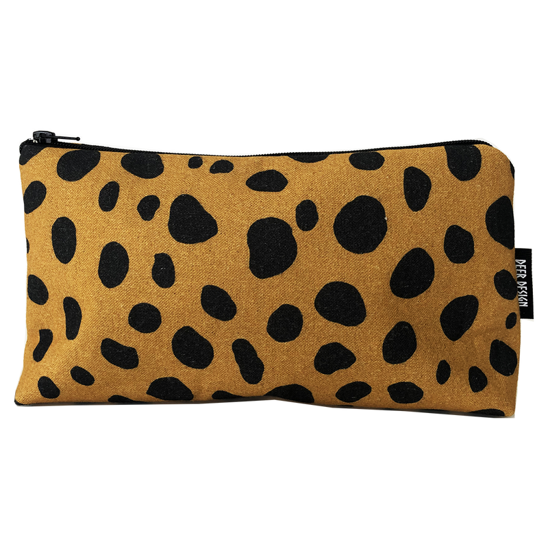 Deer Design Zip Purse Small - Geomaze Clay