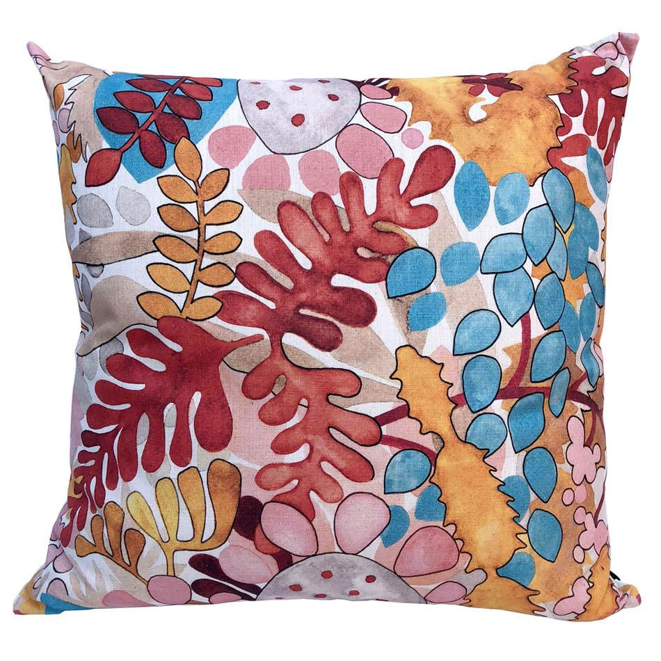 Peppertree Scatter Cushions 60x60 - Digital Small Euphoria Amber on Parchment