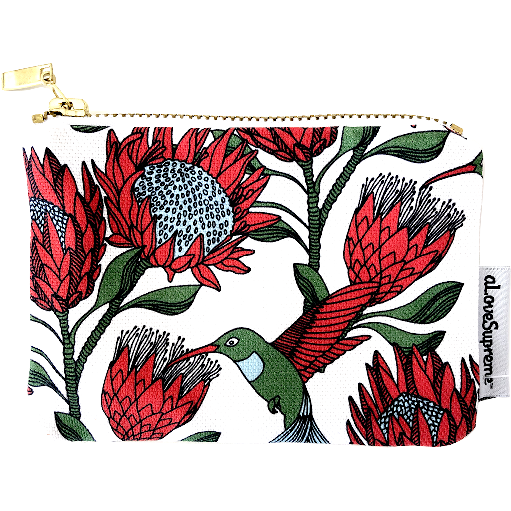 aLoveSupreme Coin Purse - Protea Cream