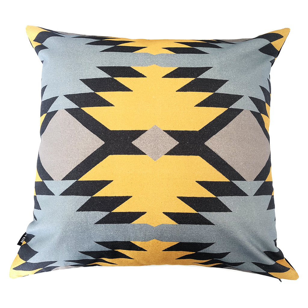 Deer Design Cushion Covers 60x60 - Tribal Chic Coal