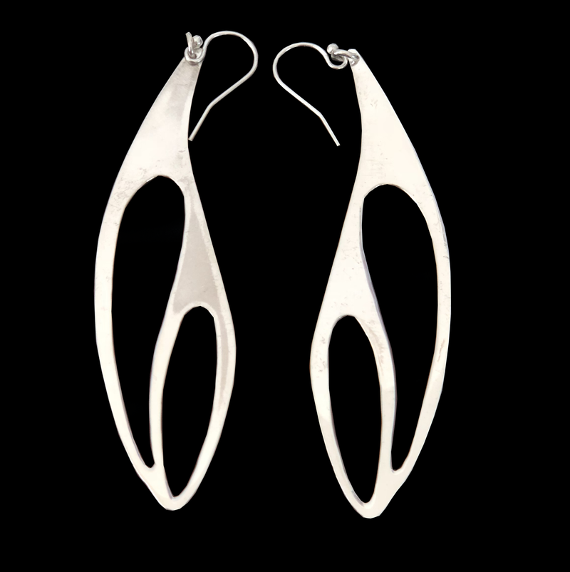 Deer Design Sterling Silver Earrings - Dragonfly wing