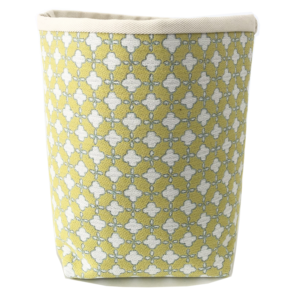 Deer Design Fabric Bucket Small - Terrazzo Margarita Yellow