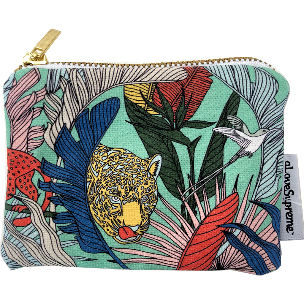 aLoveSupreme Coin Purse - Wild at Heart Green