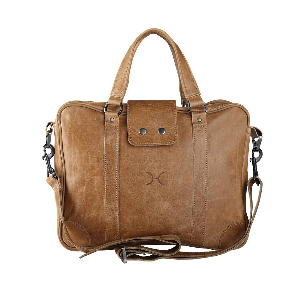 Thandana Laptop Bag Leather - Hazelnut Leather