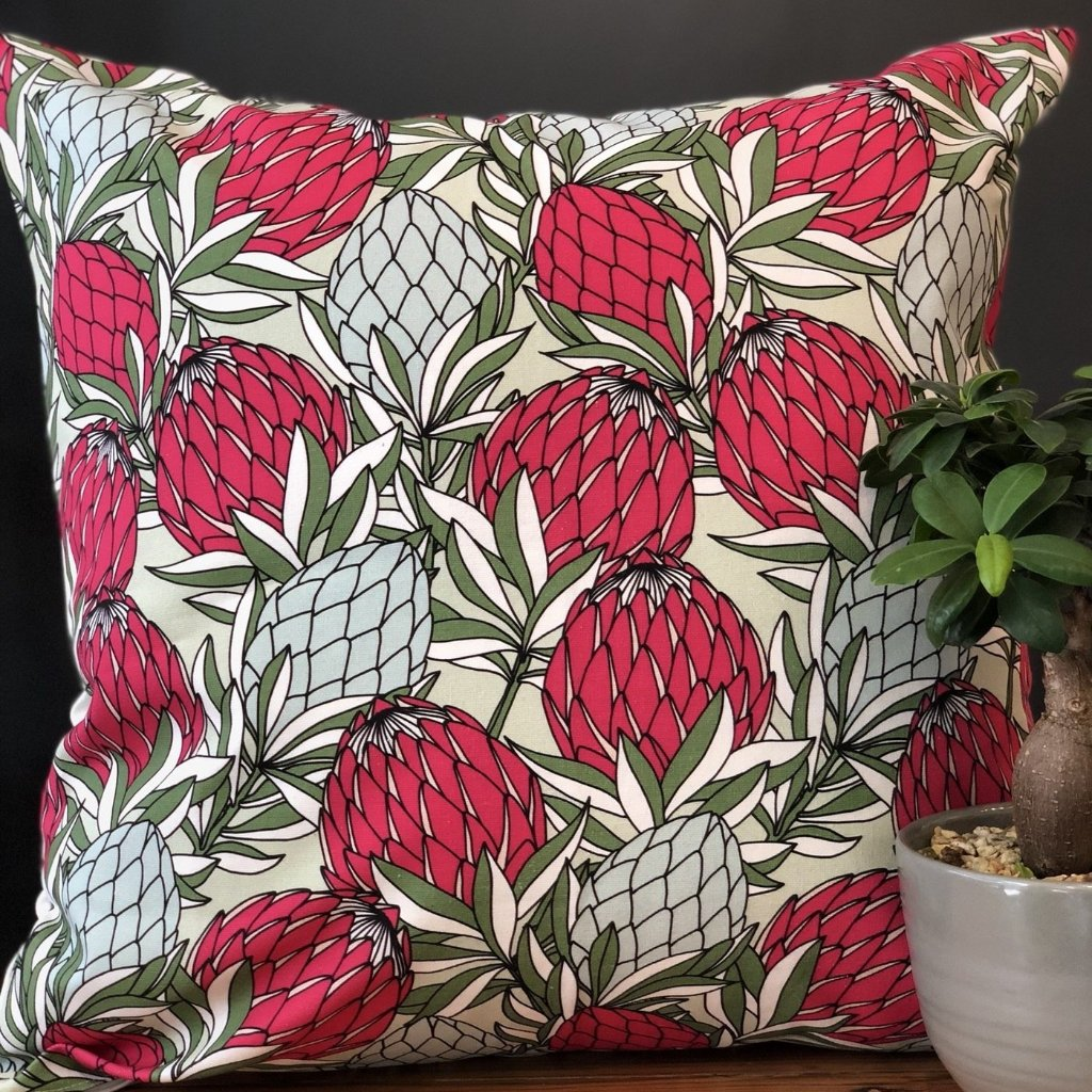 aLoveSupreme Cushion Covers 50x50 Leaves Protea Pink