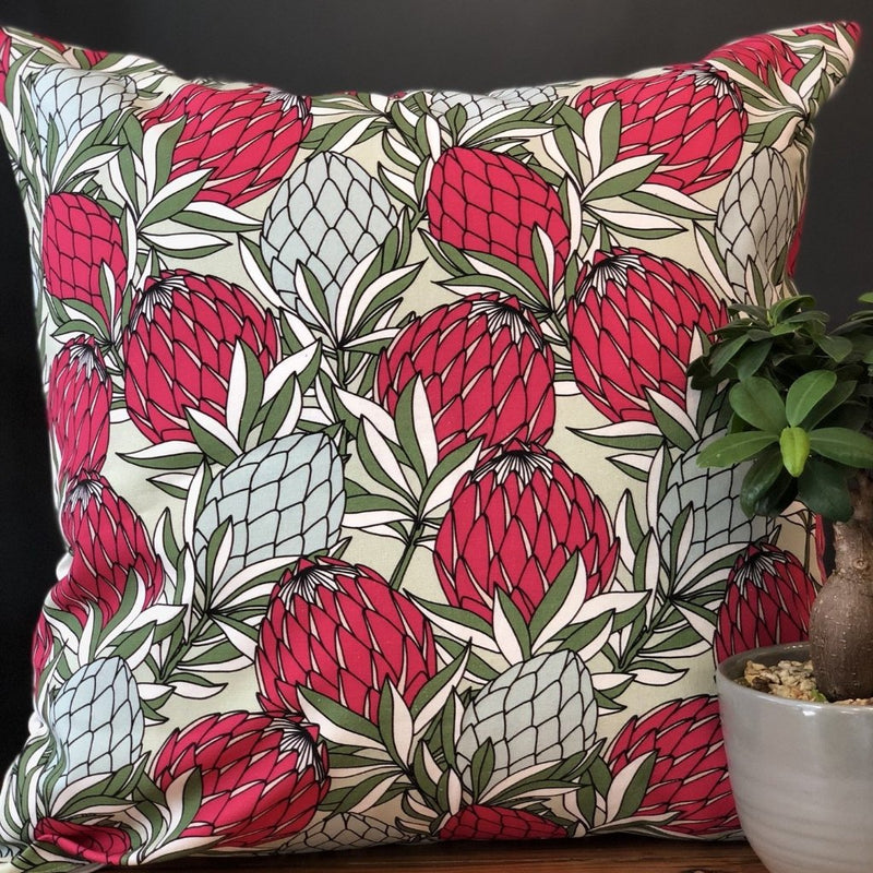aLoveSupreme Cushion Covers 50x50 Leaves Protea Red