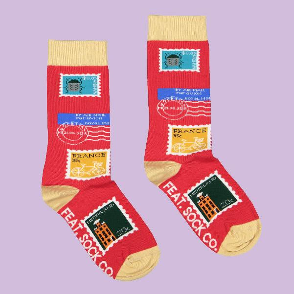 Feat Sock Co Red Stamp Collection Socks