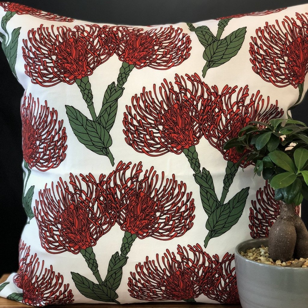 aLoveSupreme Cushion Covers 60x60 Pin Cushion Red on White