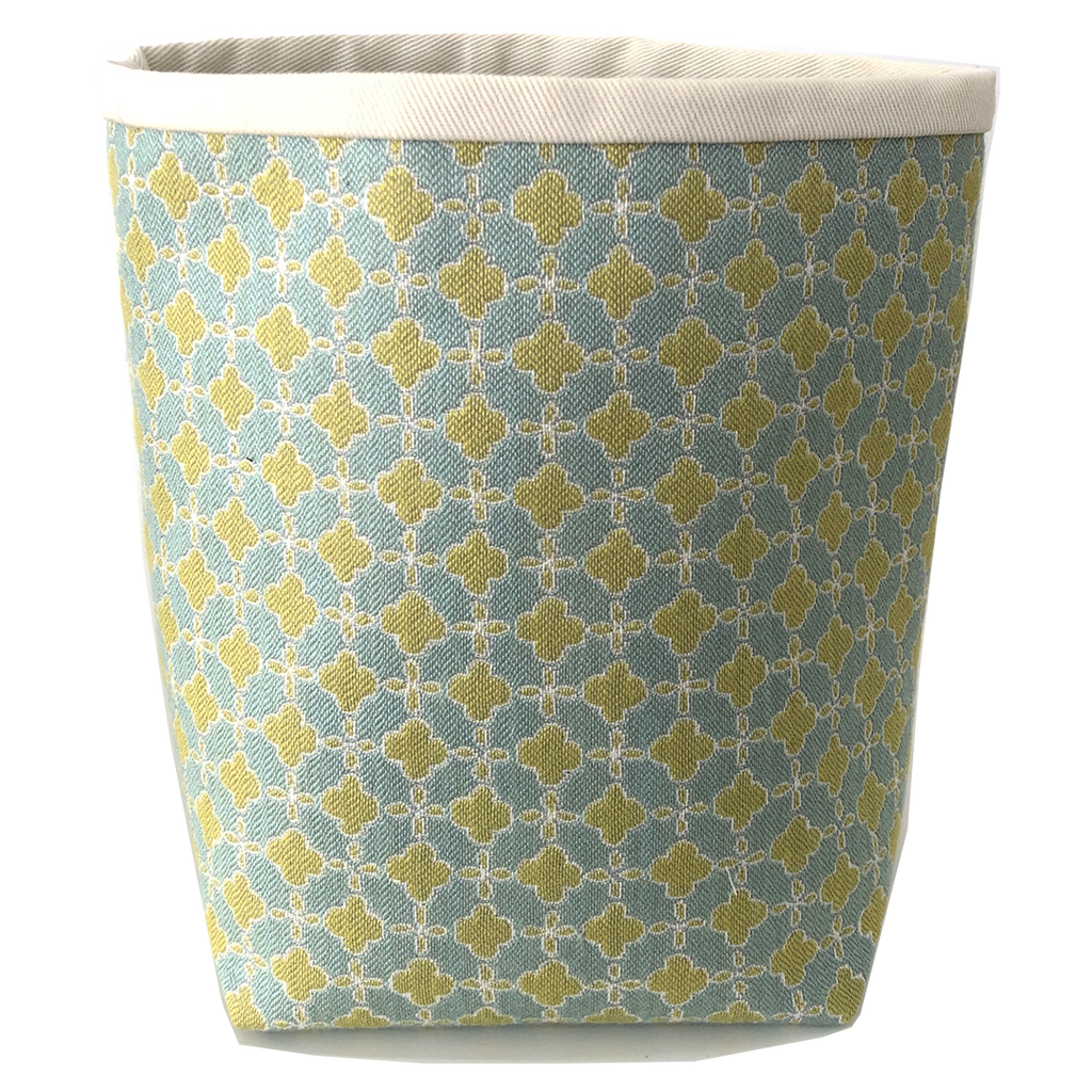 Deer Design Fabric Bucket Small - Terrazzo Margarita Green