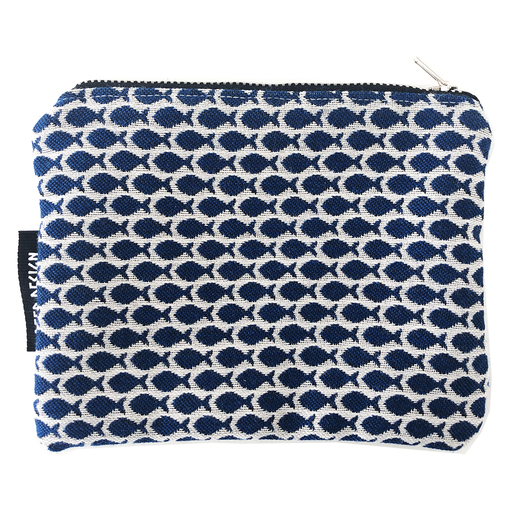 Deer Design Zip Purse Small - Guppy Indigo