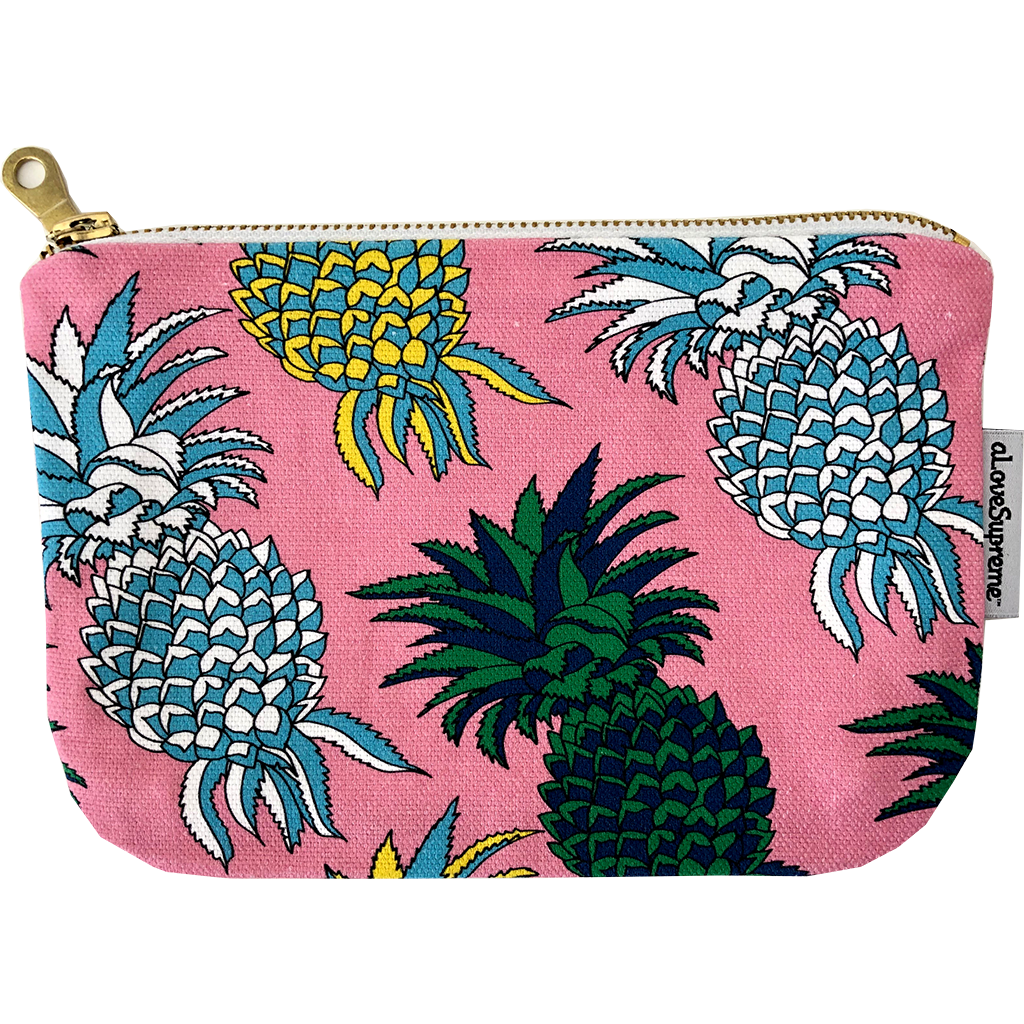 aLoveSupreme Pouch Metal Zip - Pineapple Pink