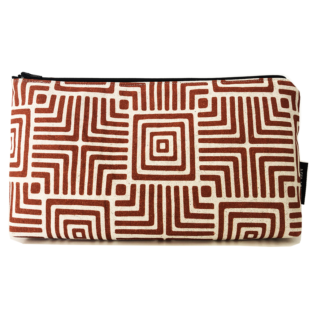 Deer Design Large Makeup Bag - Geomaze Clay