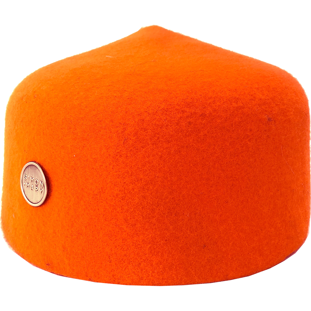 Simon & Mary Fez Hat Orange