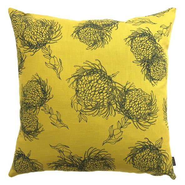 Peppertree Scatter Cushions 60x60 - Garden Bloom Ocean CB on Lime