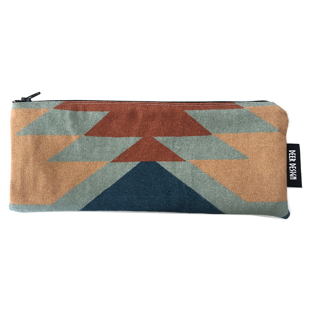 Deer Design Pencil Case - Tribal Chic Ochre