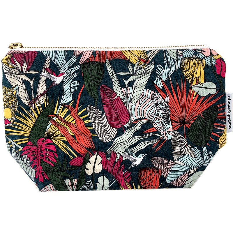 aLoveSupreme Makeup Pouch - Wild at Heart Gunmetal Warm