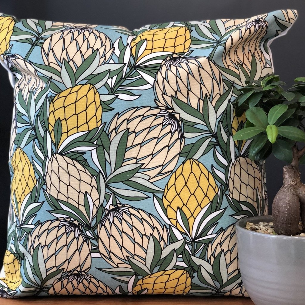 aLoveSupreme Cushion Covers 50x50 Leaves Protea Yellow