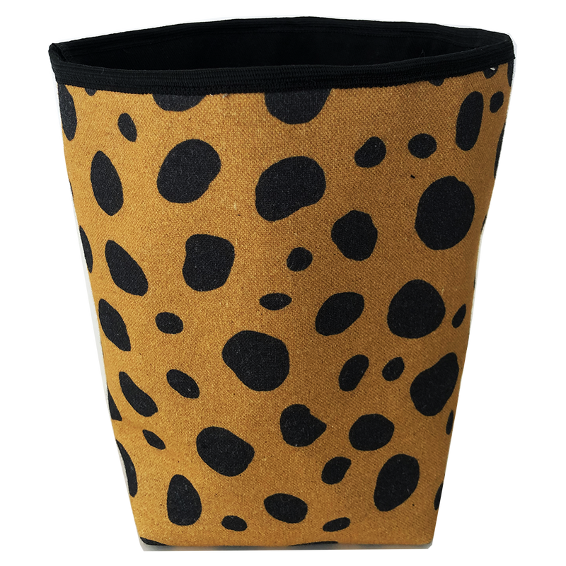 Deer Design Fabric Bucket Small - Desert Storm
