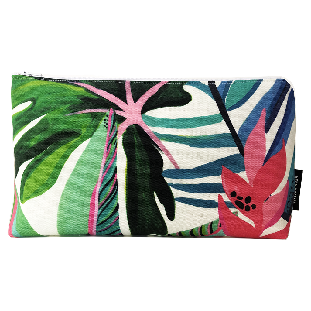Deer Design Large Makeup Bag - Machu Tropical