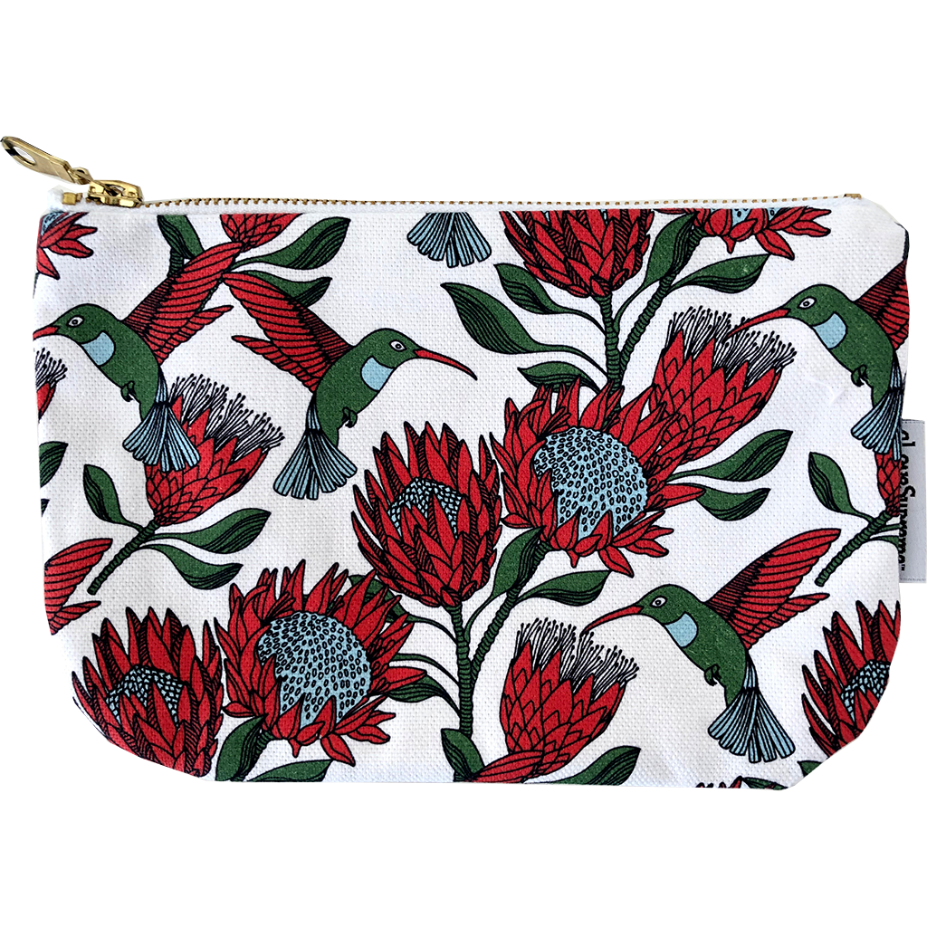 aLoveSupreme Pouch Metal Zip - Protea Cream