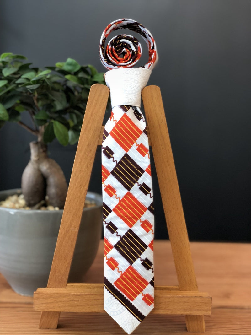 Owami African Print Tie and Pocket Square  - African Square
