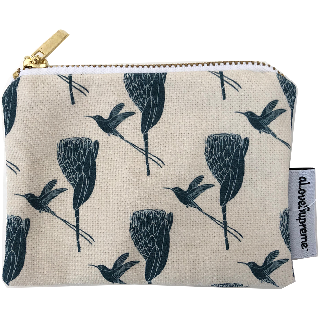 aLoveSupreme Coin Purse - Sugarbird Gunmetal