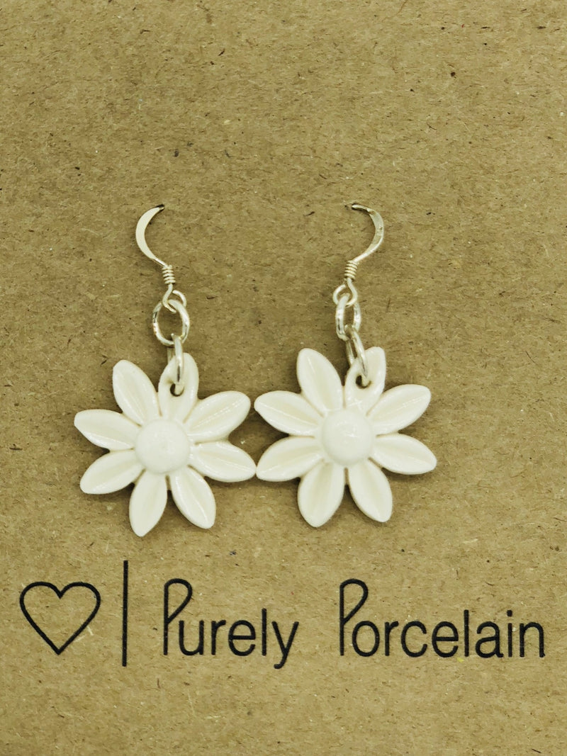 Purely Porcelain Hook Earrings pp012 Flowers