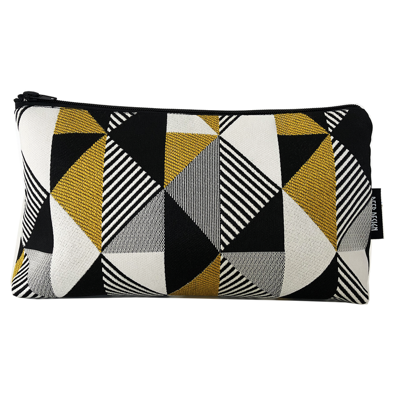 Deer Design Large Makeup Bag - Thirteenth Avenue Mustard