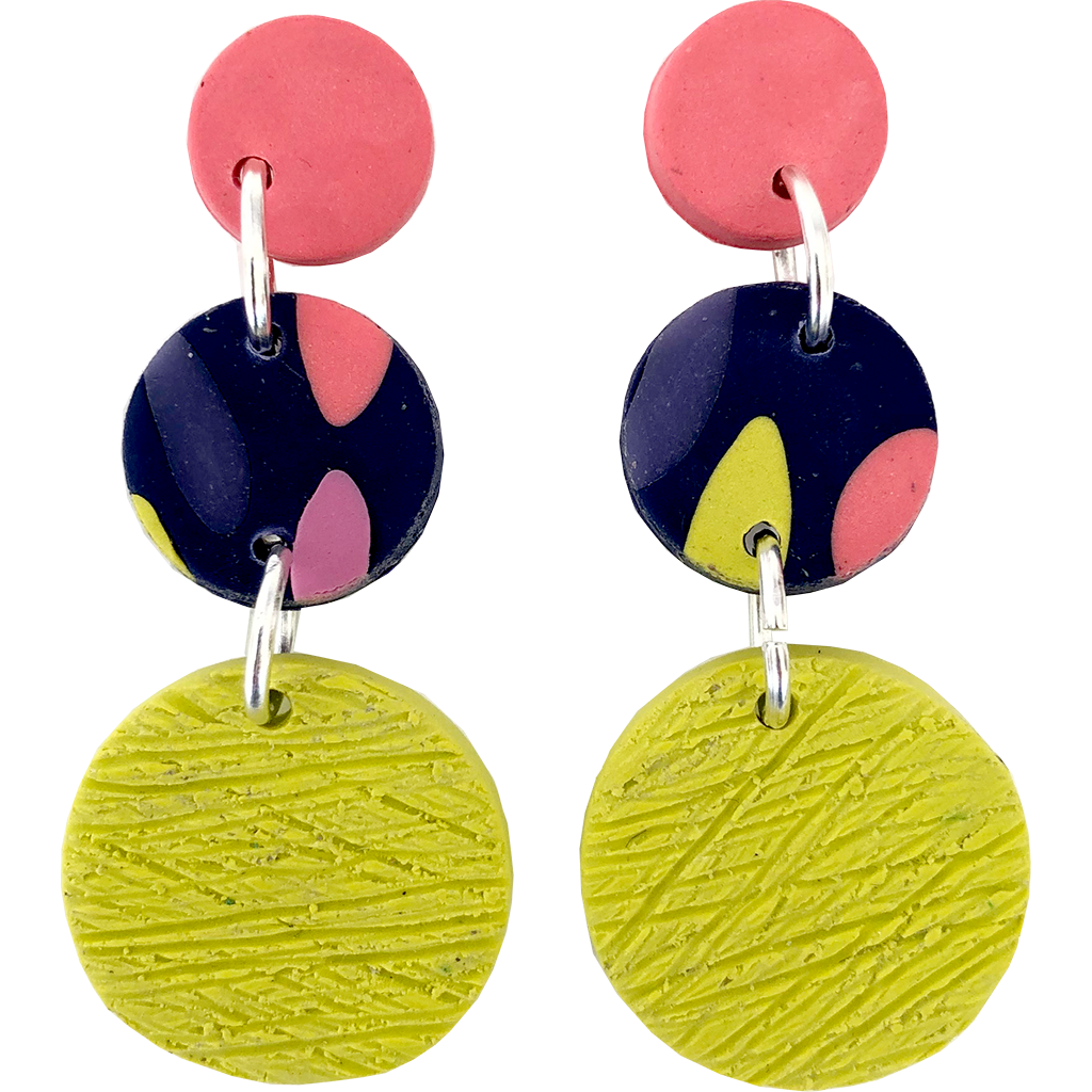 Happy Island Earrings - Party Circle Dangle