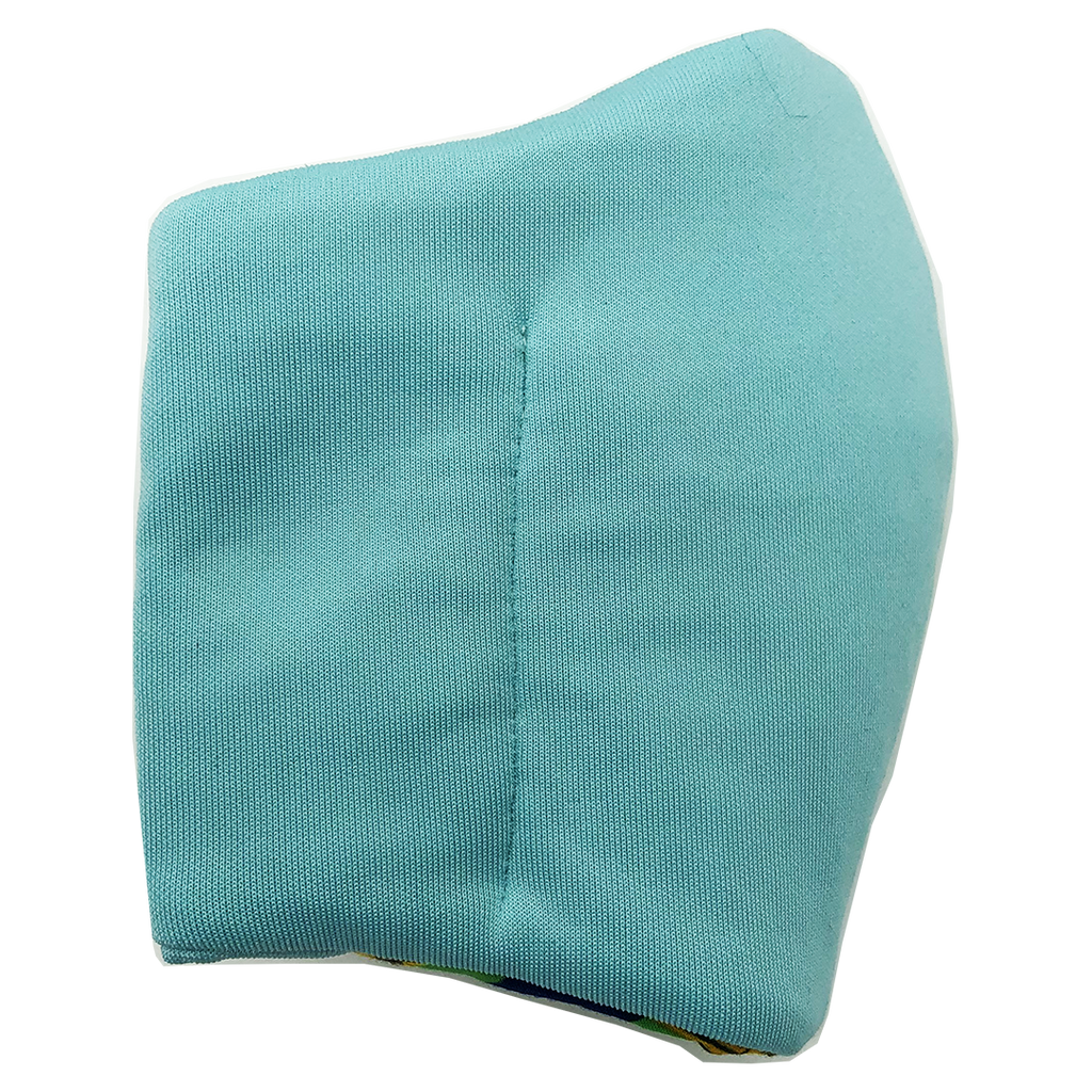 Face Mask V2 - Aqua (assorted cotton fabric for inner mouth piece)