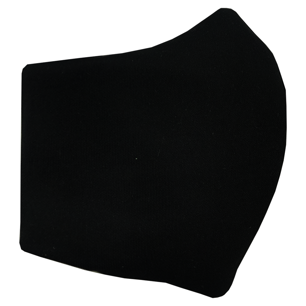 Face Mask V2 - Black (assorted cotton fabric for inner mouth piece)