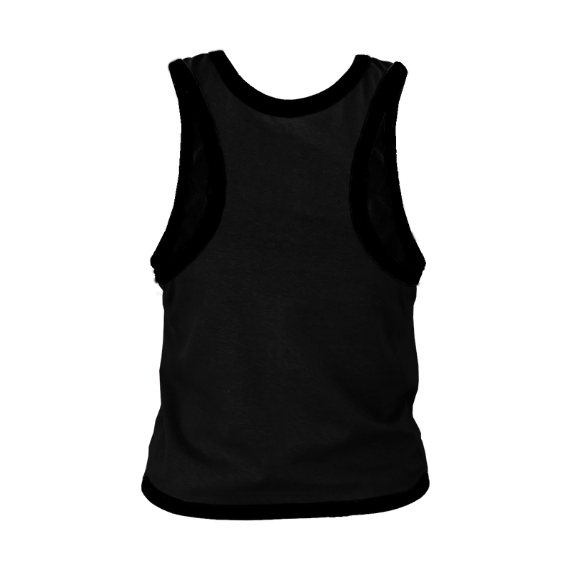 Black with Black Trim Cross Back T-Shirt