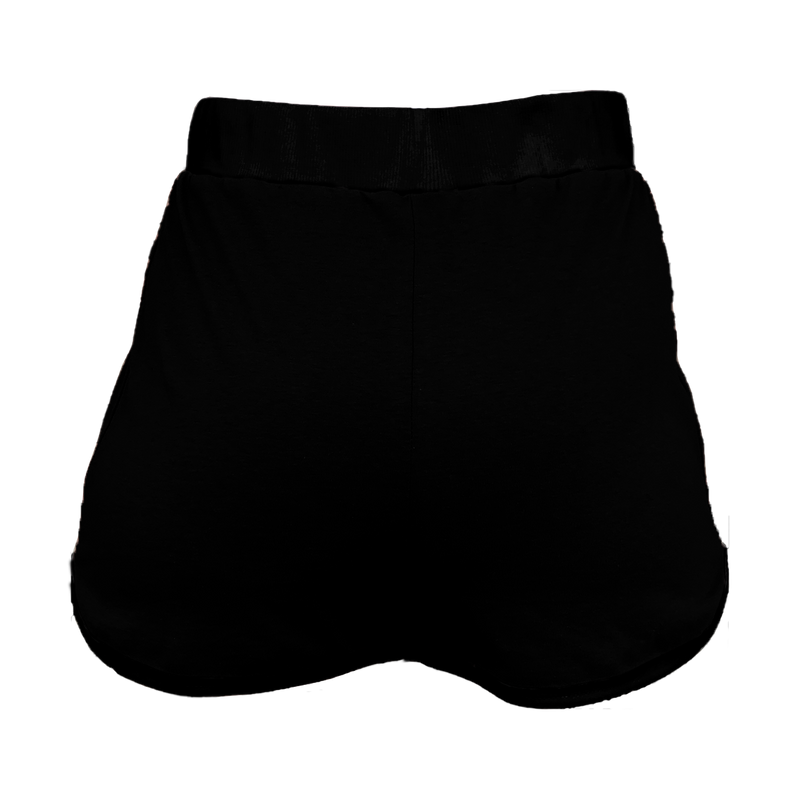 Black with Black Trim High-Waisted Shorts
