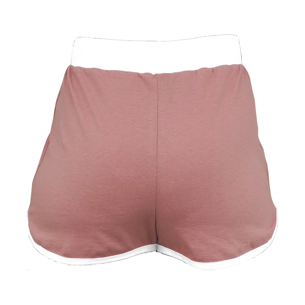 Dusty Rose High-Waisted Shorts