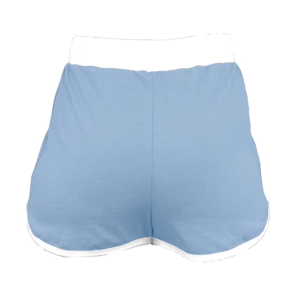 Light Blue High-Waisted Shorts