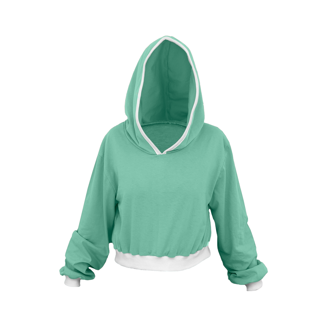Mint Green Cropped Hoodie
