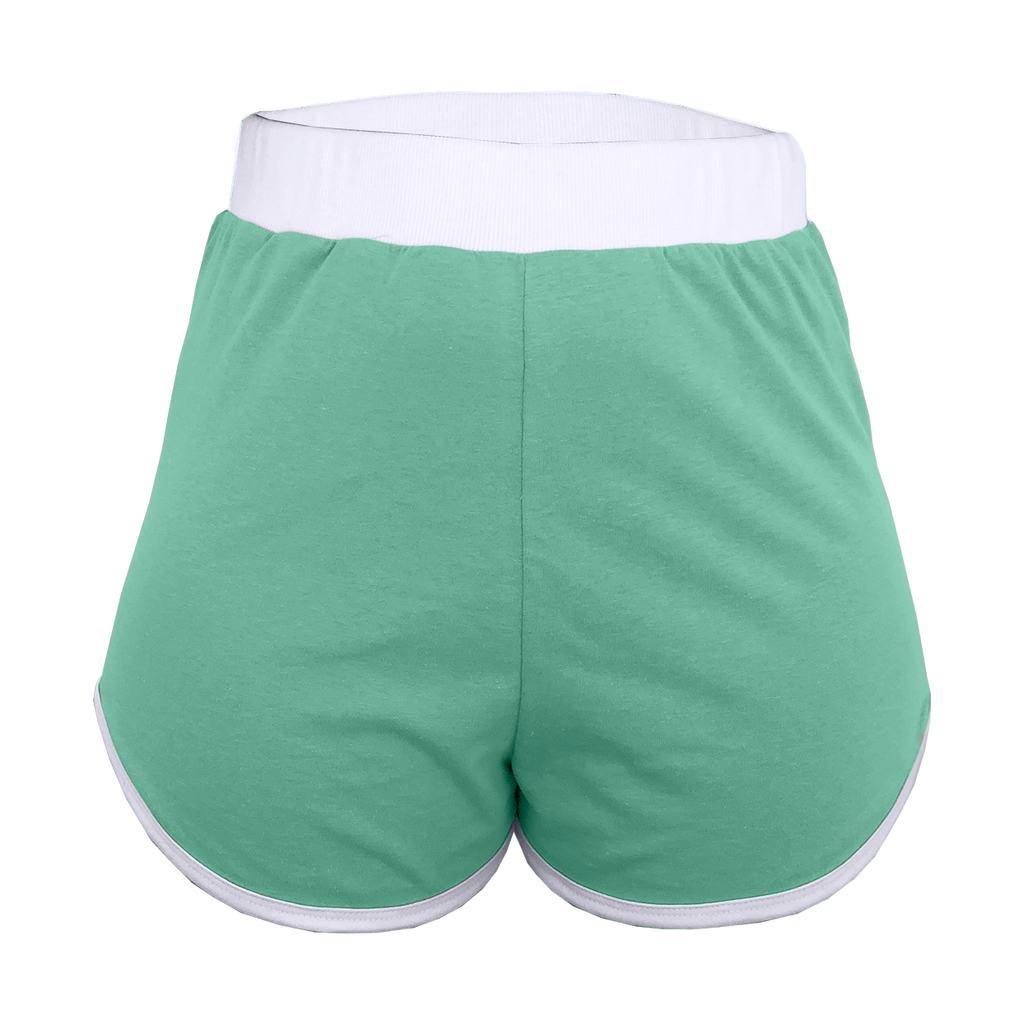 Mint Green High-Waisted Shorts