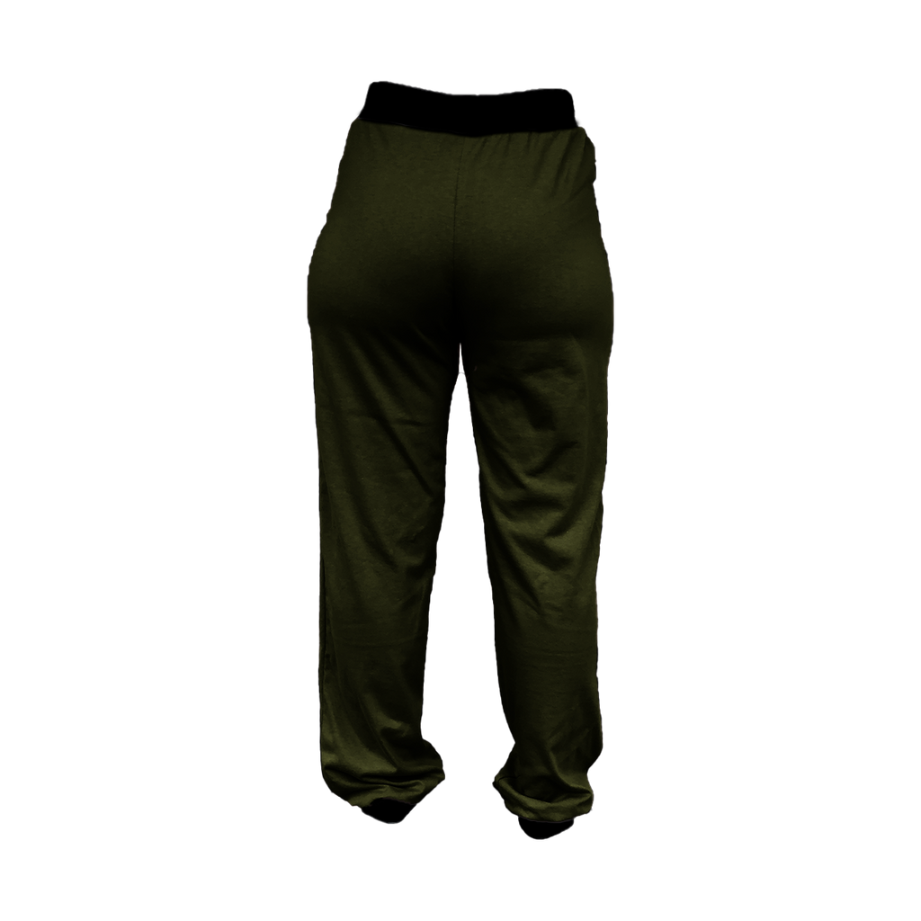 Olive Green High-Waisted Sweatpants