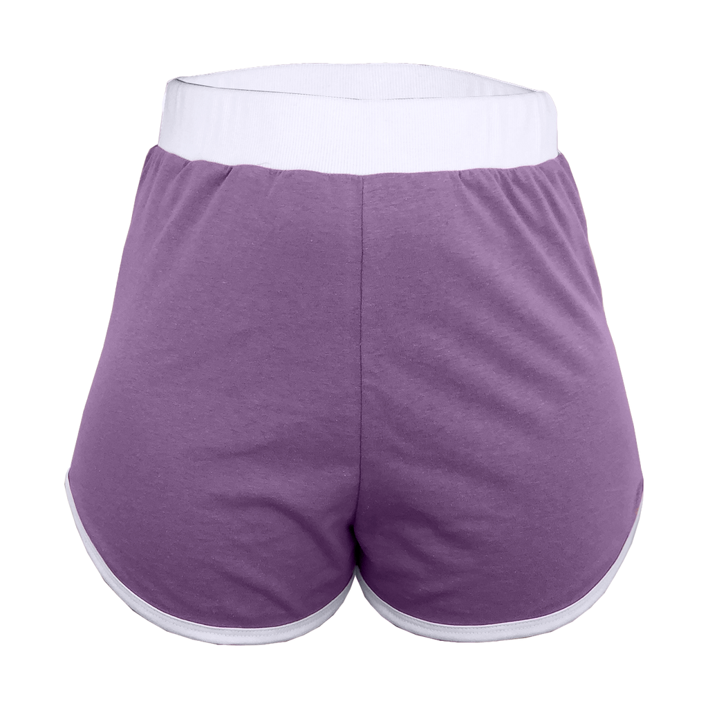 Purple High-Waisted Shorts