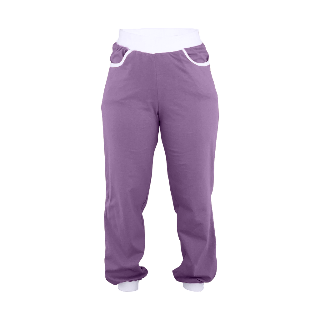 Purple High-Waisted Sweatpants