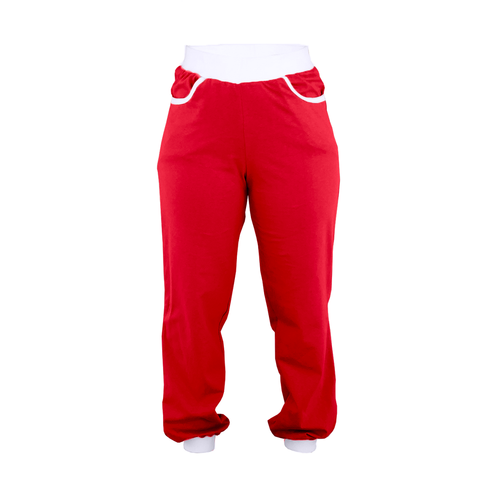 Red High-Waisted Sweatpants
