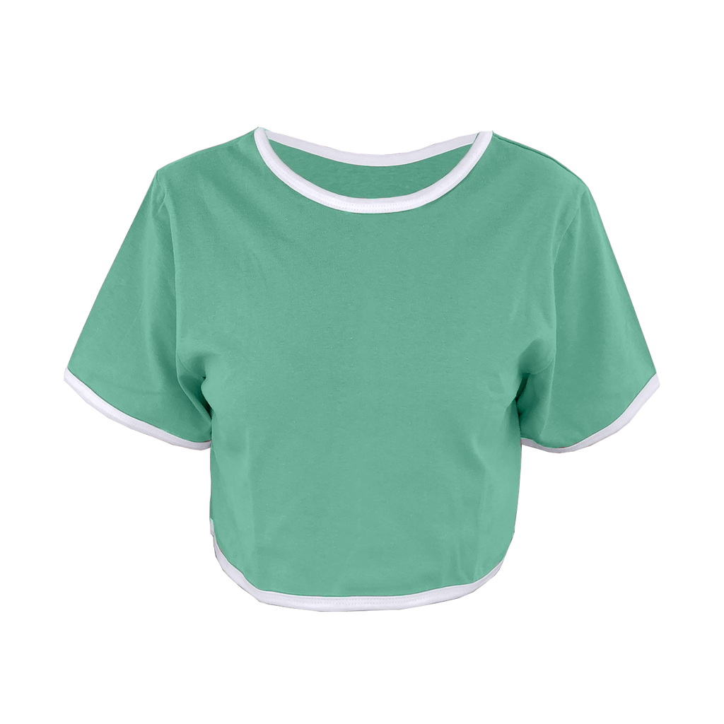 Mint Green Cropped T-Shirt