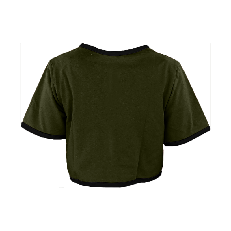 Olive Green Cropped T-Shirt
