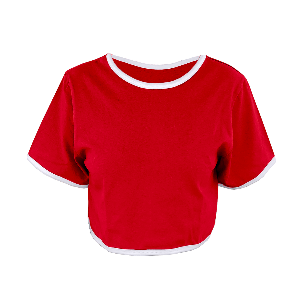 Red Cropped T-Shirt