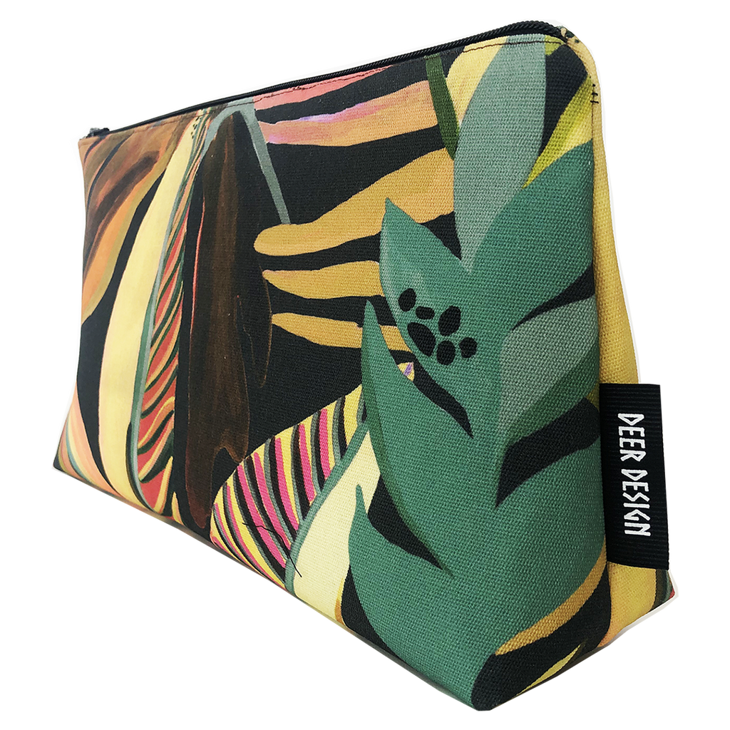Deer Design Large Makeup Bag - Machu Burn