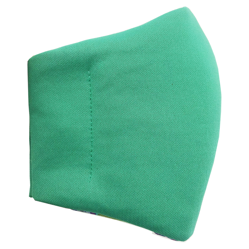 Face Mask V2 - Green (assorted cotton fabric for inner mouth piece)