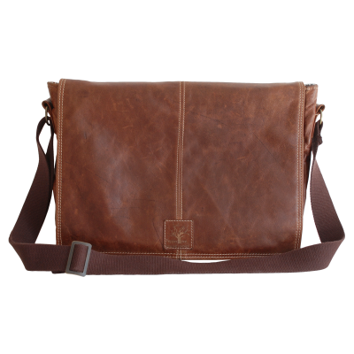 Peppertree Dark Leather Laptop Bag 1